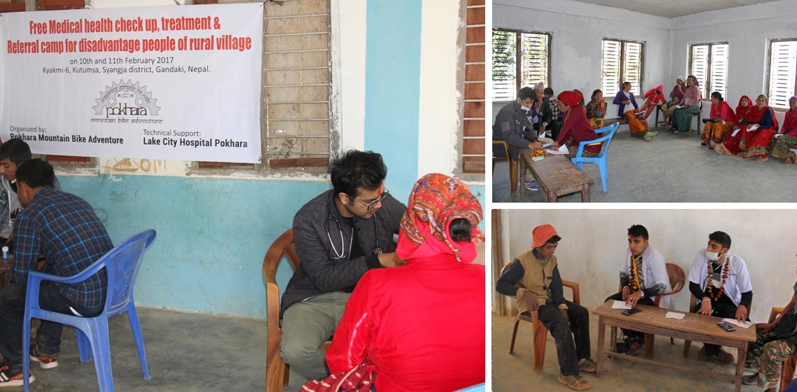 Free Medical Health check up and treament camp for disadvantage people of rural village