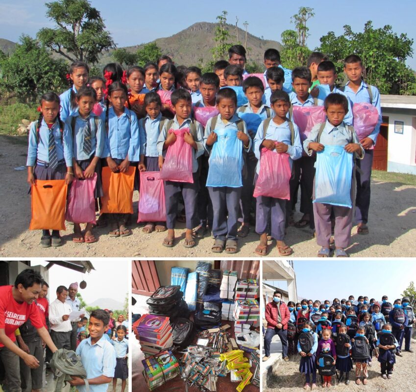 Stationery and uniform support for local disadvantage children